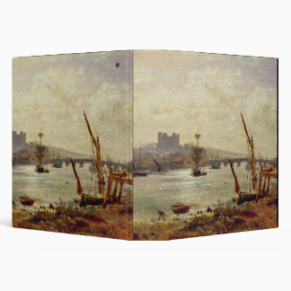 Rochester Cathedral and Castle c 1820-30 oil on 3 Ring Binder