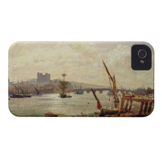 Rochester Cathedral and Castle c 1820-30 oil on iPhone 4 Case-Mate Case