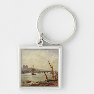 Rochester Cathedral and Castle c 1820-30 oil on Keychains