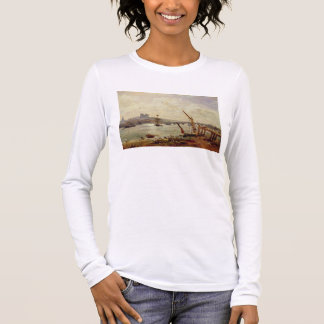 Rochester Cathedral and Castle, c.1820-30 (oil on Long Sleeve T-Shirt