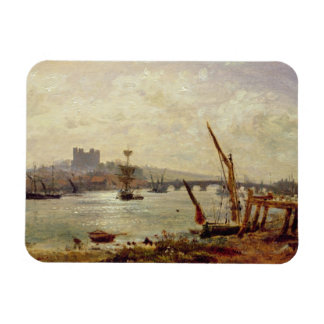 Rochester Cathedral and Castle c 1820-30 oil on Vinyl Magnets