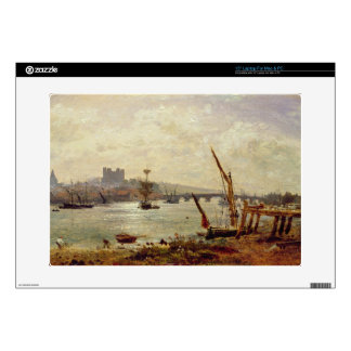 Rochester Cathedral and Castle c 1820-30 oil on Decal For Laptop