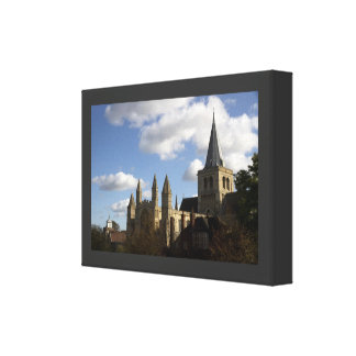Rochester Cathedral Wrapped Canvas Canvas Prints
