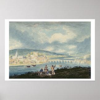 Rochester, del norte, c.1790 (w/c sobre el lápiz póster