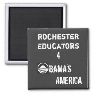 Rochester Educators for Obama's America Magnet BW