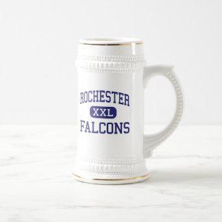 Rochester - Falcons - alta - colinas de Rochester Jarra De Cerveza
