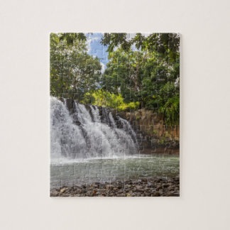Rochester Falls waterfall in Souillac Mauritius Jigsaw Puzzle