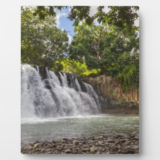 Rochester Falls waterfall in Souillac Mauritius Plaque