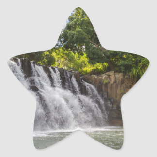 Rochester Falls waterfall in Souillac Mauritius Star Sticker