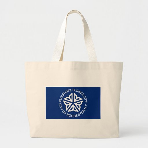 Rochester Flag Large Tote Bag