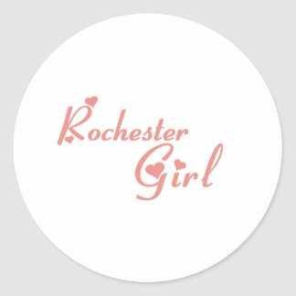 Rochester Hills Girl tee shirts Classic Round Sticker