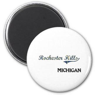 Rochester Hills Michigan City Classic 2 Inch Round Magnet