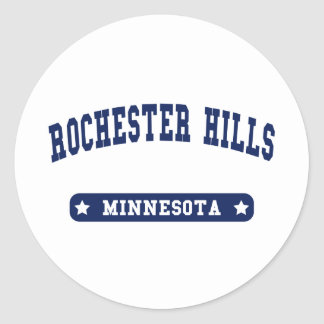 Rochester Hills Michigan College Style tee shirts Classic Round Sticker