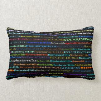 Rochester Hills Text Design I Lumbar Pillow
