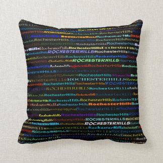 Rochester Hills Text Design I Throw Pillow