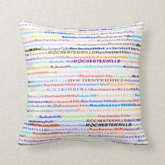 Rochester Hills Text Design II Throw Pillow