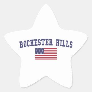 Rochester Hills US Flag Star Sticker