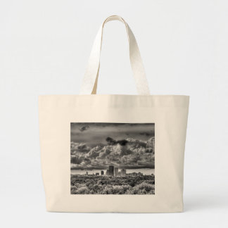 Rochester in Black and White Large Tote Bag