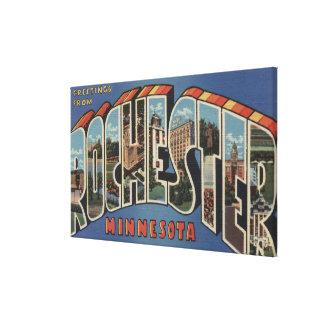 Rochester, Minnesota - Large Letter Scenes Canvas Print