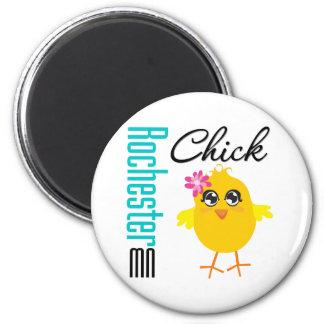Rochester MN Chick Fridge Magnet