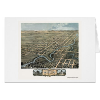 Rochester MN Panoramic Map - 1869 Greeting Card