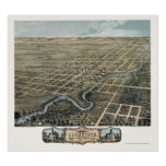 Rochester, MN Panoramic Map - 1869 Poster