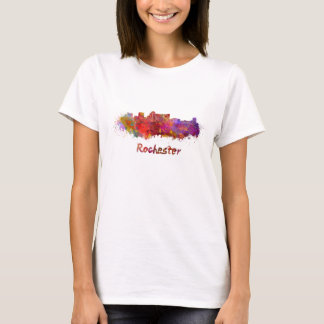 Rochester MN skyline in watercolor T-Shirt
