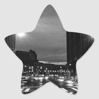 Rochester New York before the dawn Star Sticker