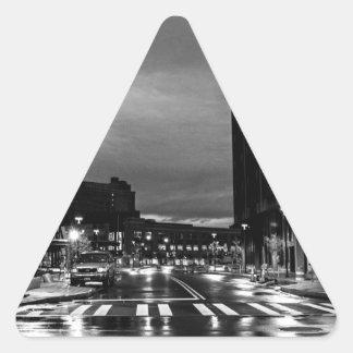 Rochester New York before the dawn Triangle Sticker