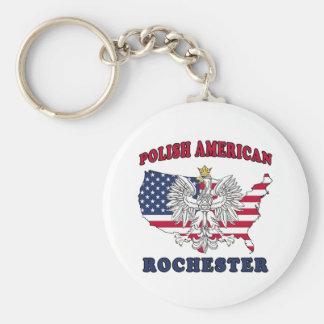 Rochester New York Polish Keychain
