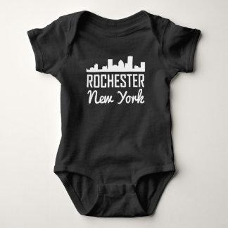 Rochester New York Skyline Baby Bodysuit