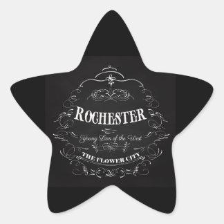 Rochester New York - The Flower City Star Sticker