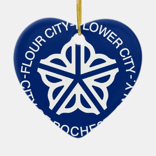 Rochester, New York, United States Ceramic Ornament