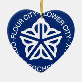 Rochester, Nueva York, Estados Unidos Adorno De Cerámica En Forma De Corazón