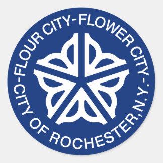 Rochester, Nueva York, Estados Unidos Pegatina Redonda