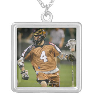 ROCHESTER, NY - JULY 23: Jeff Colburn #4 3 Silver Plated Necklace