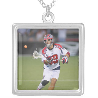ROCHESTER, NY - JUNE 18:  Paul Rabil #99 3 Silver Plated Necklace