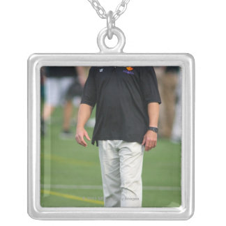 ROCHESTER, NY - JUNE 24: Gary Gait, assistant Silver Plated Necklace