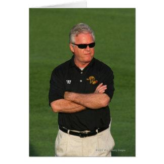 ROCHESTER NY - MAY 21 Head coach B J O Hara Greeting Card