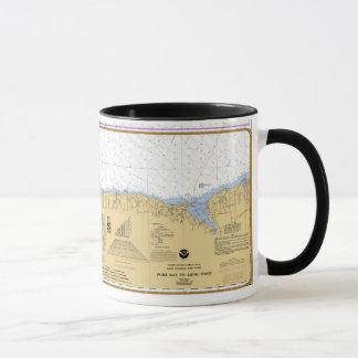 Rochester, NY Nautical Lake Ontario Chart Mug