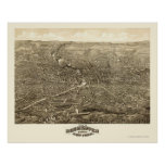 Rochester, NY Panoramic Map - 1880 Poster