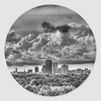 Rochester NY Skyline Classic Round Sticker