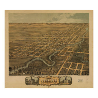 Rochester Olmsted County Minnesota (1869) Poster