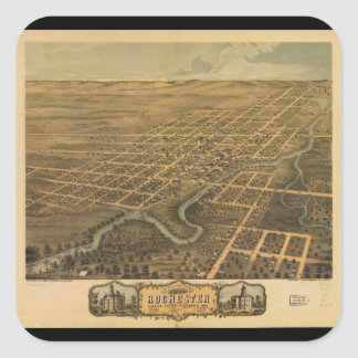 Rochester Olmsted County Minnesota (1869) Square Sticker
