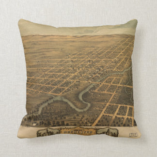 Rochester Olmsted County Minnesota (1869) Throw Pillow