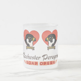 Rochester Peregrine Soap Opera Frosted Glass Coffee Mug