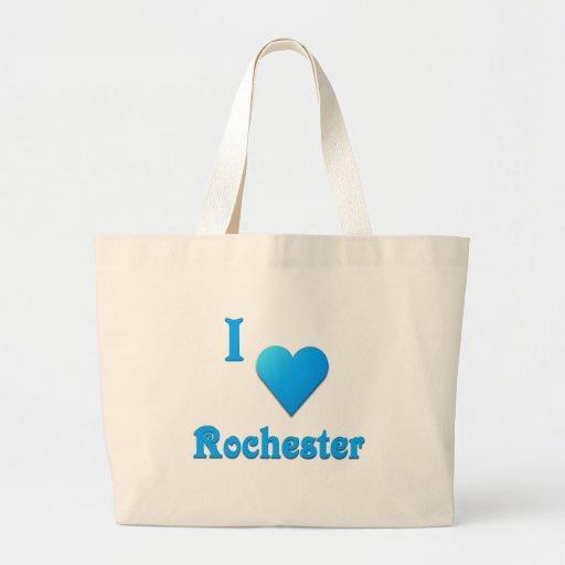 Rochester -- Sky Blue Jumbo Tote Bag