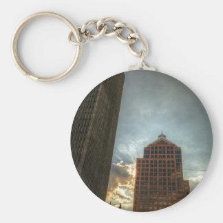Rochester Skyline in HDR Keychain