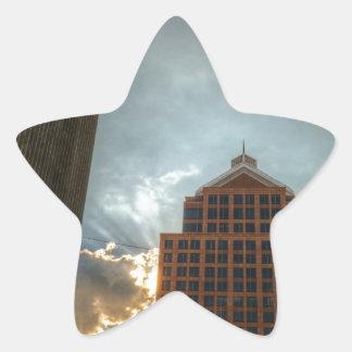 Rochester Skyline in HDR Star Sticker