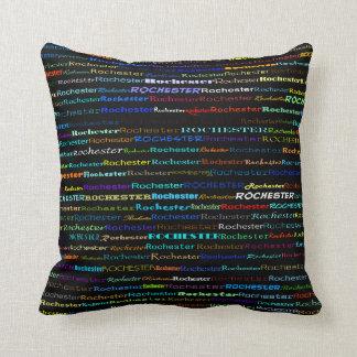 Rochester Text Design I Throw Pillow